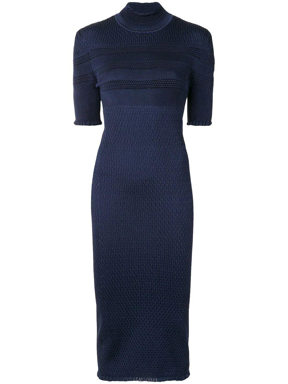 Knit Turtleneck Long Dress