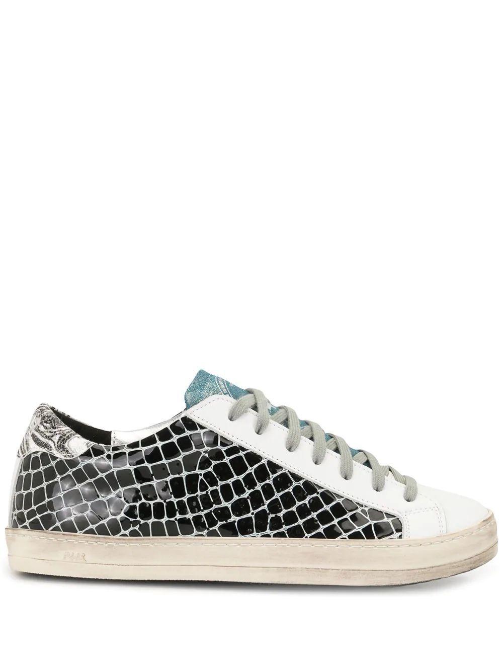 Mixed Print Croc Sneaker