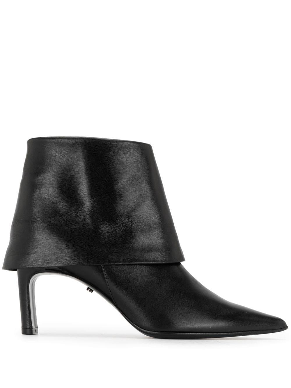 Fold Down Pointed Toe Bootie