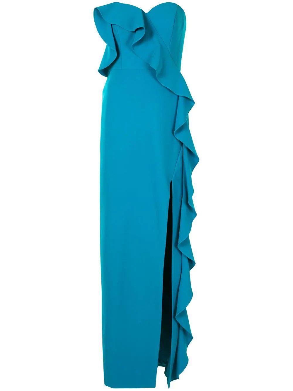Flounce Strapless Dress Item # MN1E205034-F20