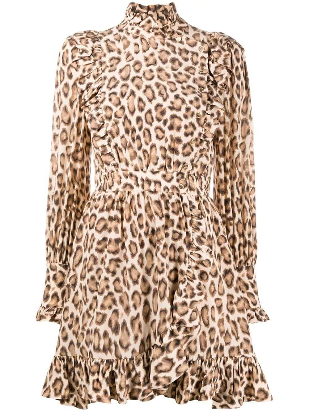 Lucky Leopard Print Dress Item # 8820DLKY