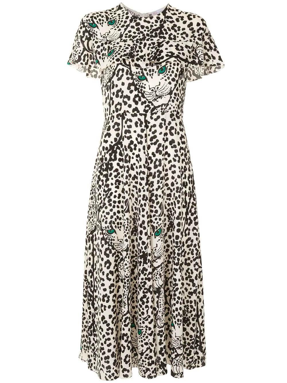 Leopard Print Midi Dress Item # UR3VAF2056B