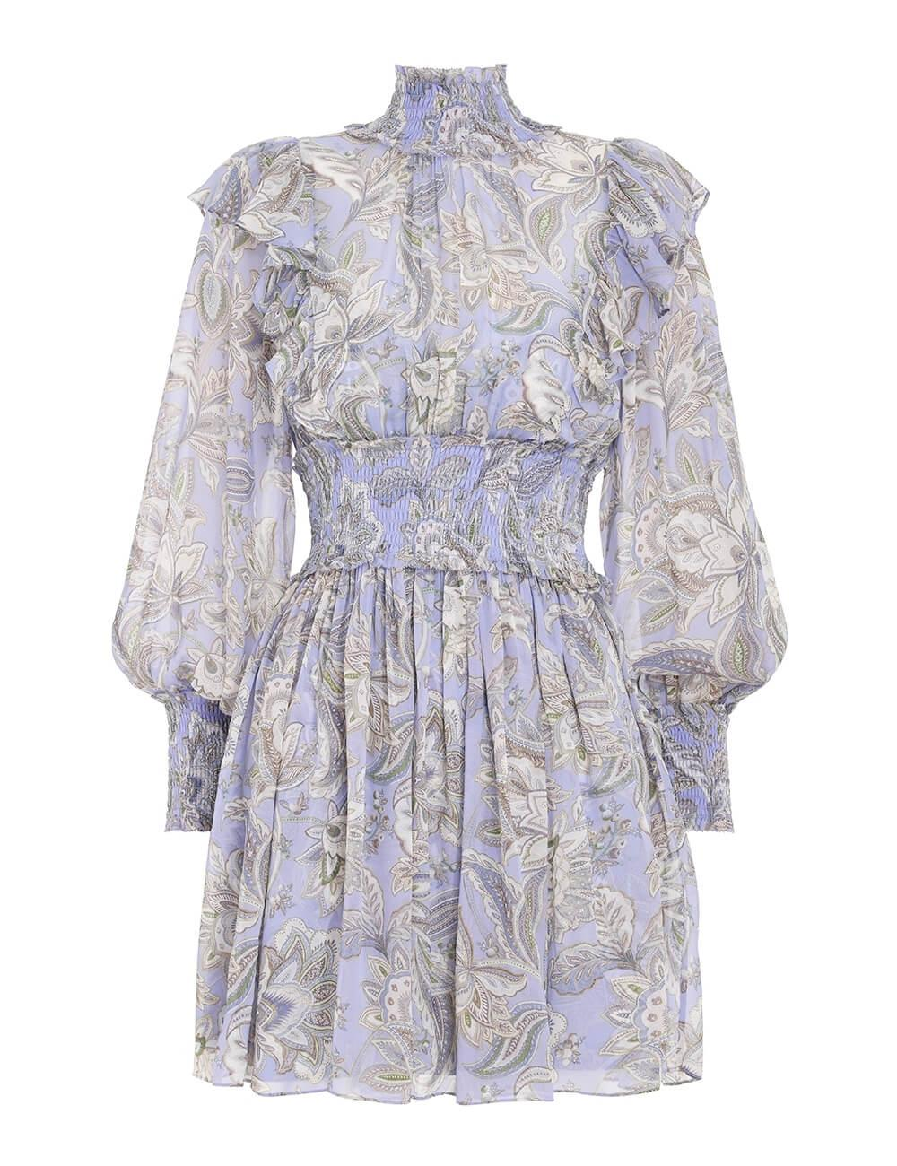 Lucky Shirred Mini Dress