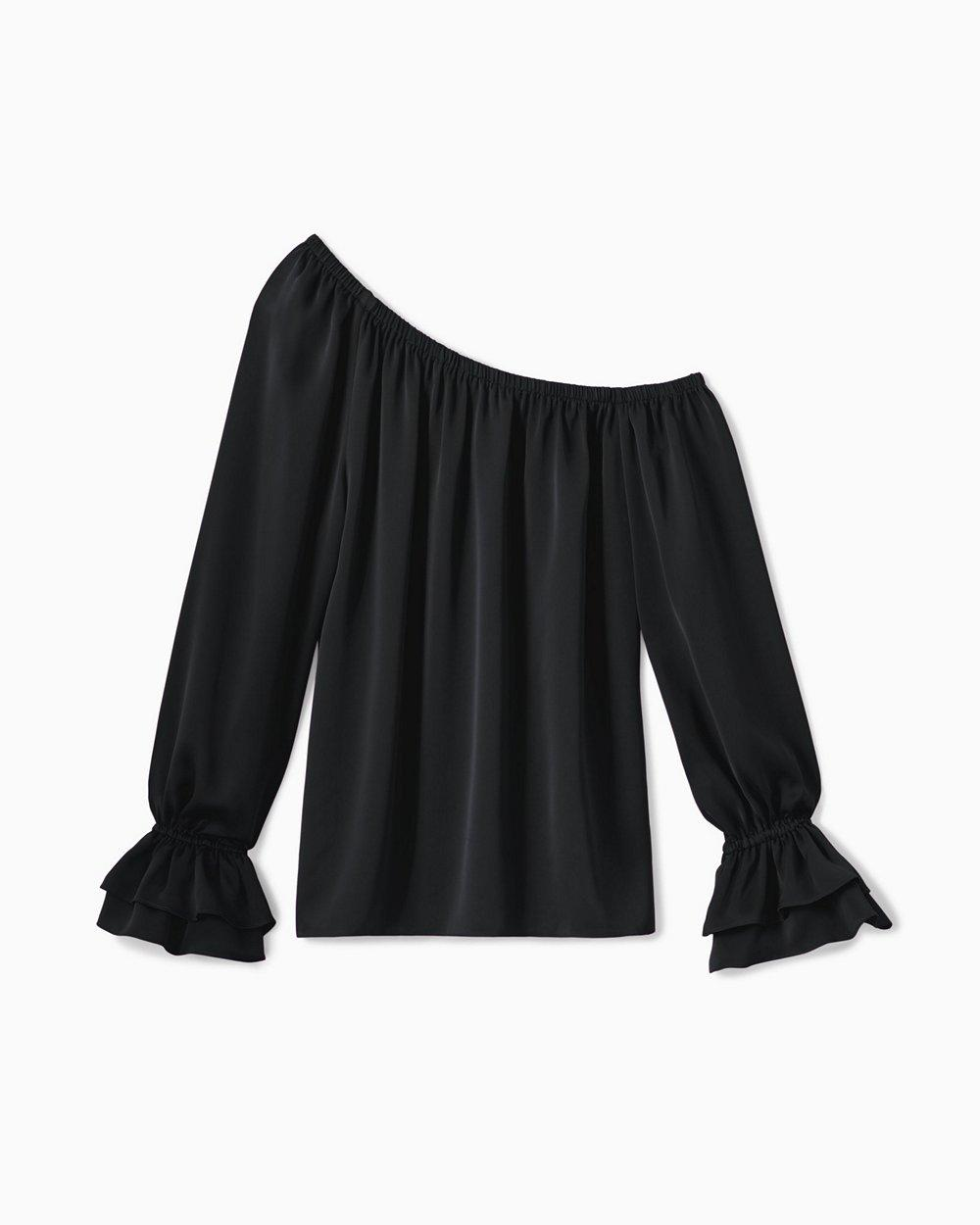 Murphy Off The Shoulder Satin Blouse Item # A1019204-F20