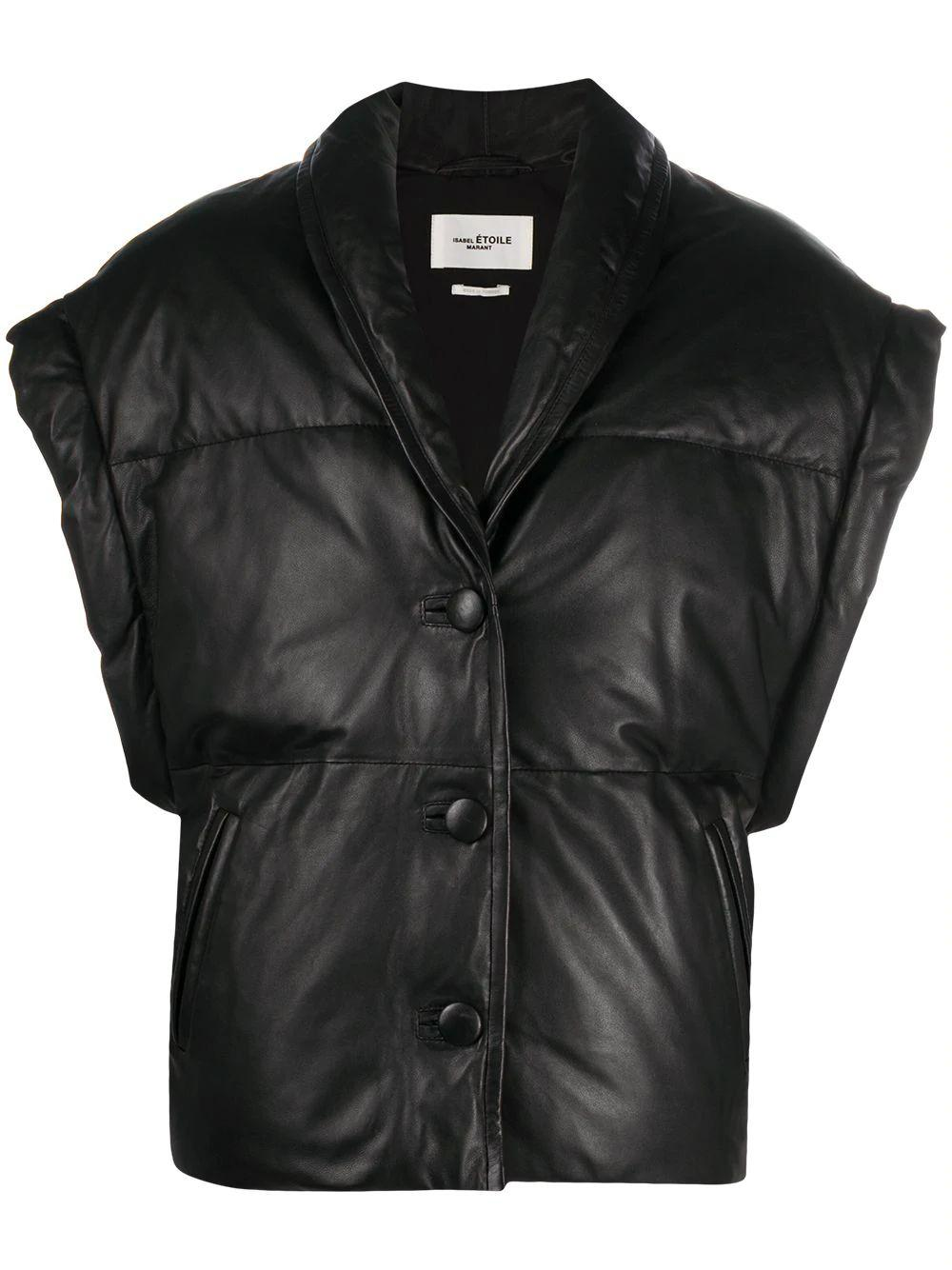 Keyson Leather Puff Vest