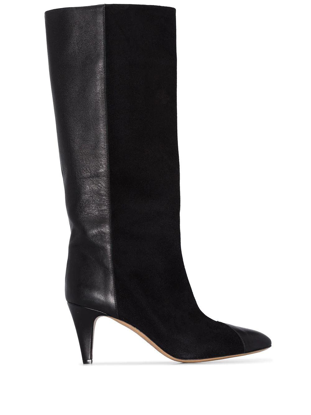 Leas Leather And Velvet Boot Item # LEAS
