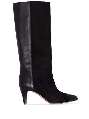 Leas Leather and Velvet Boot