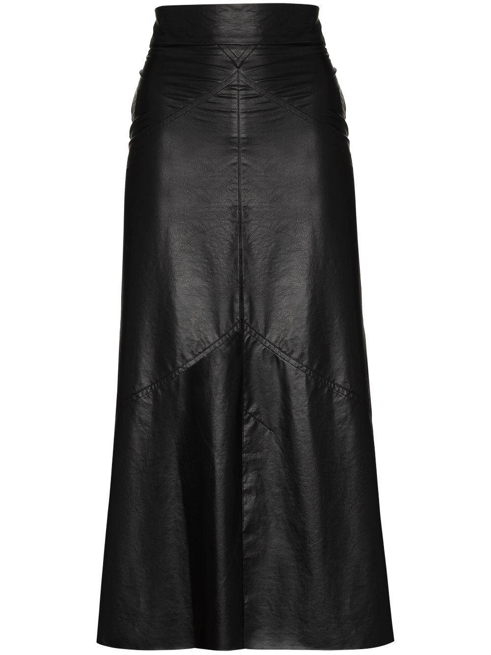 Domi Faux Leather Skirt
