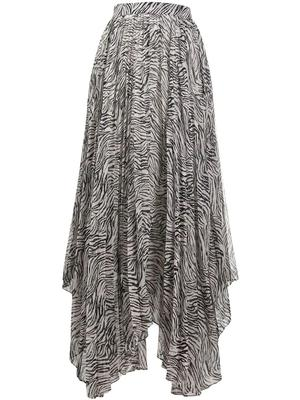 Alena Printed Pleated Skirt