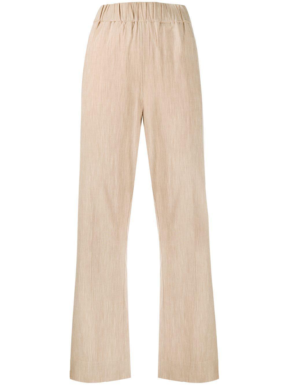 Melange Suiting Elastic Waist Pants Item # F5058