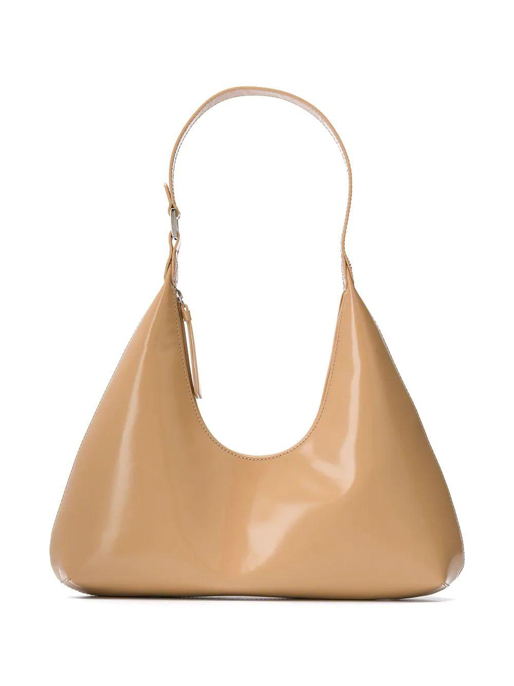 Amber Semi- Patent Shoulder Bag
