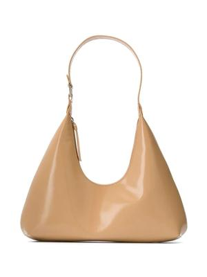 Amber Semi-Patent Shoulder Bag