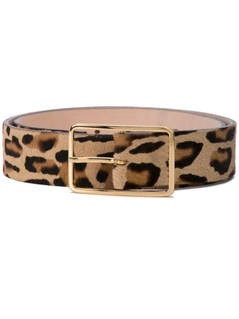 Milla Leopard Print Calf Hair Belt