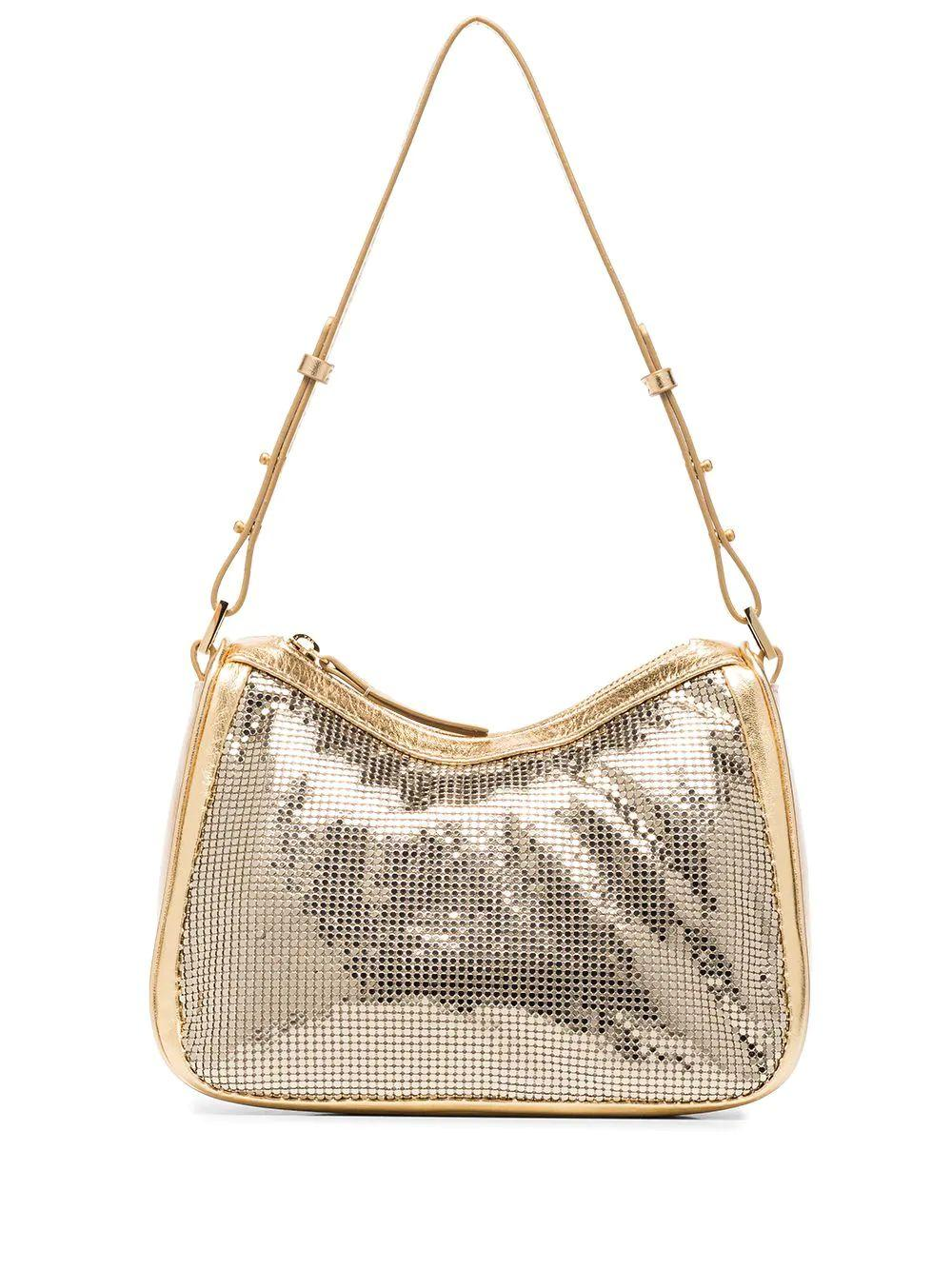 Sydney Metal Mesh Shoulder Bag Item # 20FWSYSGDMTMMED
