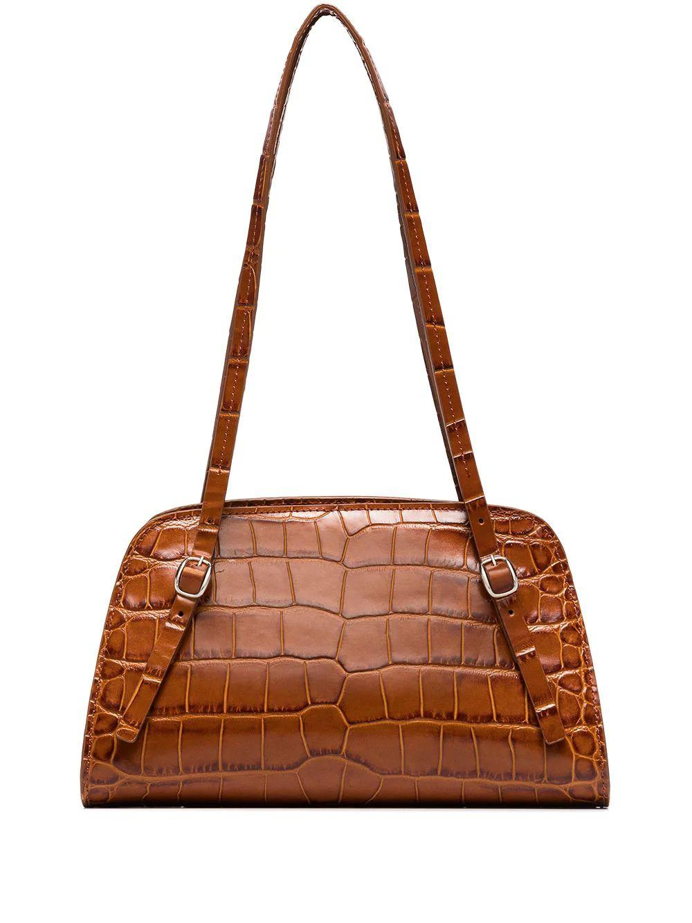 Lora Embossed Crocodile Bag Item # 20FWLRSTNDMED