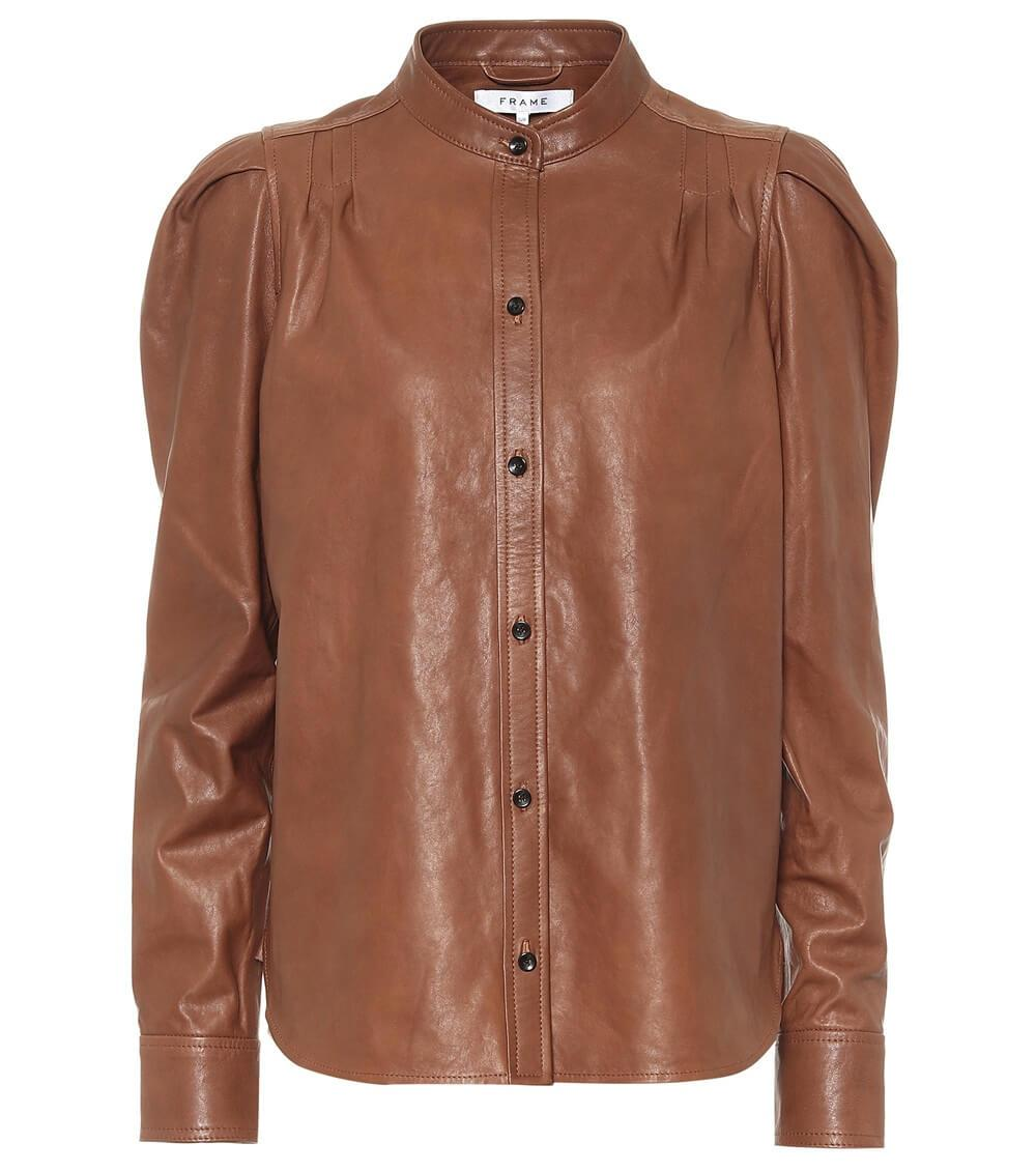 Charlie Leather Top Item # LWLT0421