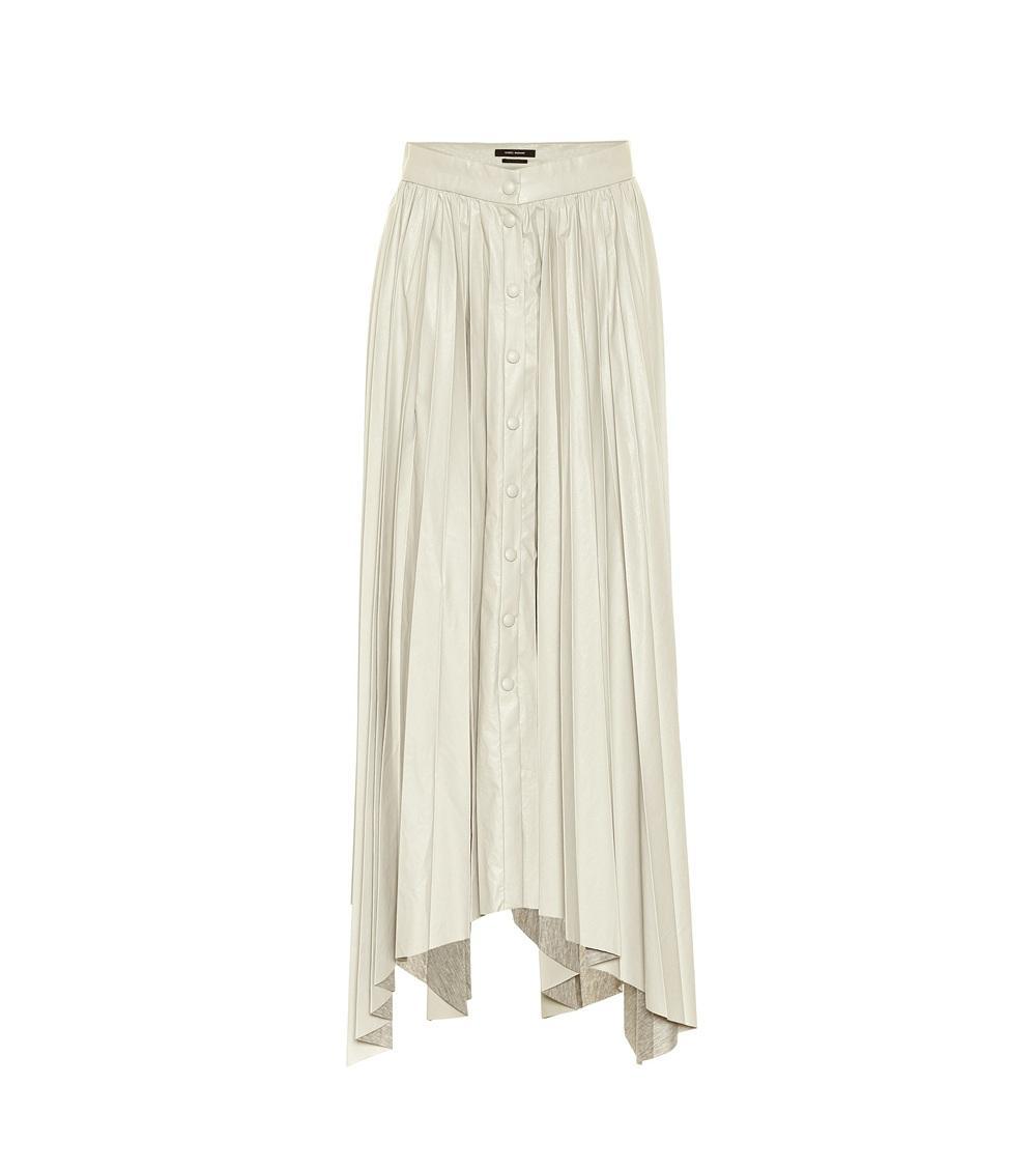 Davies Faux Leather Skirt Item # DAVIES