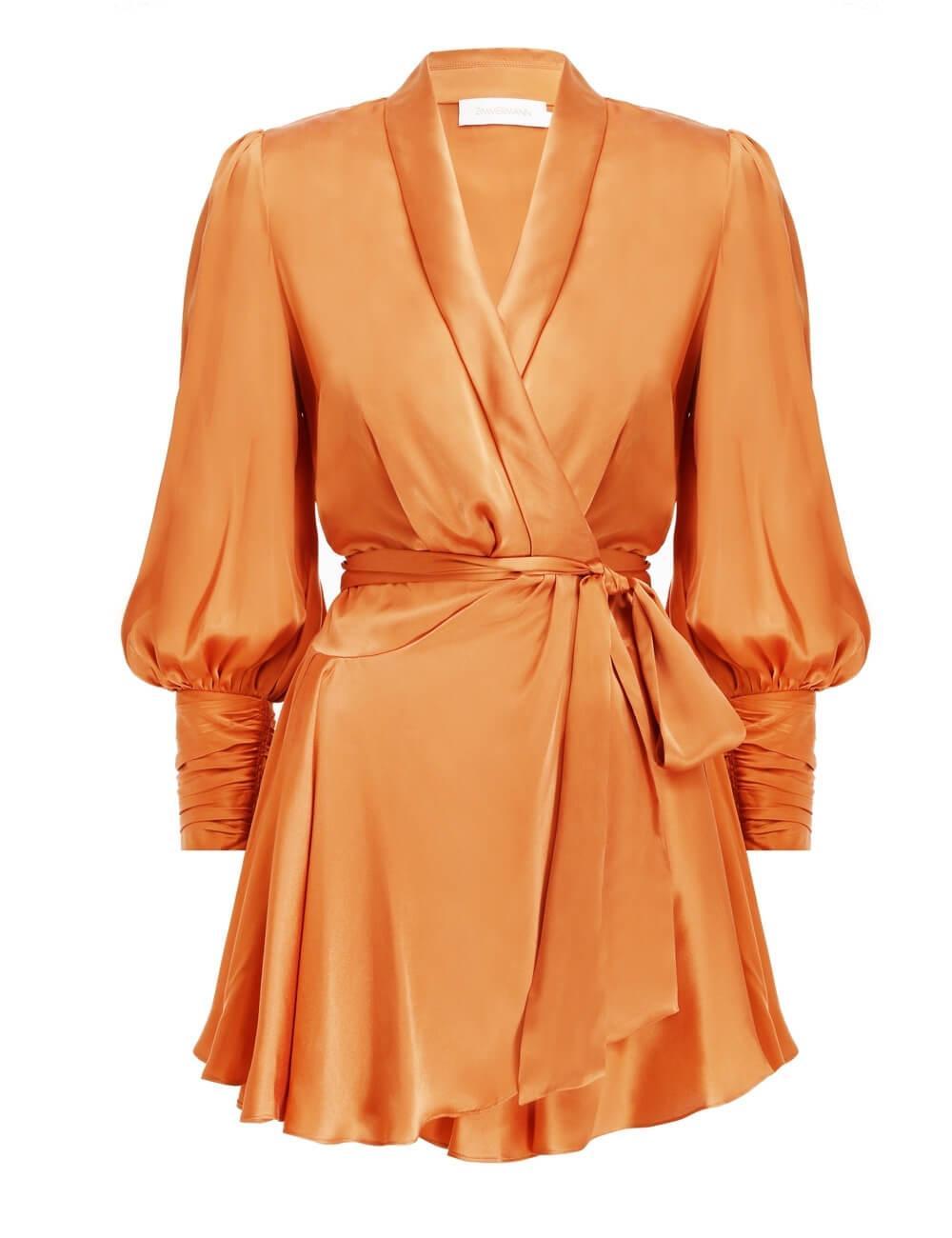 Silk Wrap Mini Dress Item # 8067DRLAD