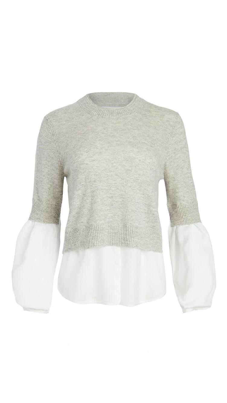 Ebbi Layered Crew Looker Sweater
