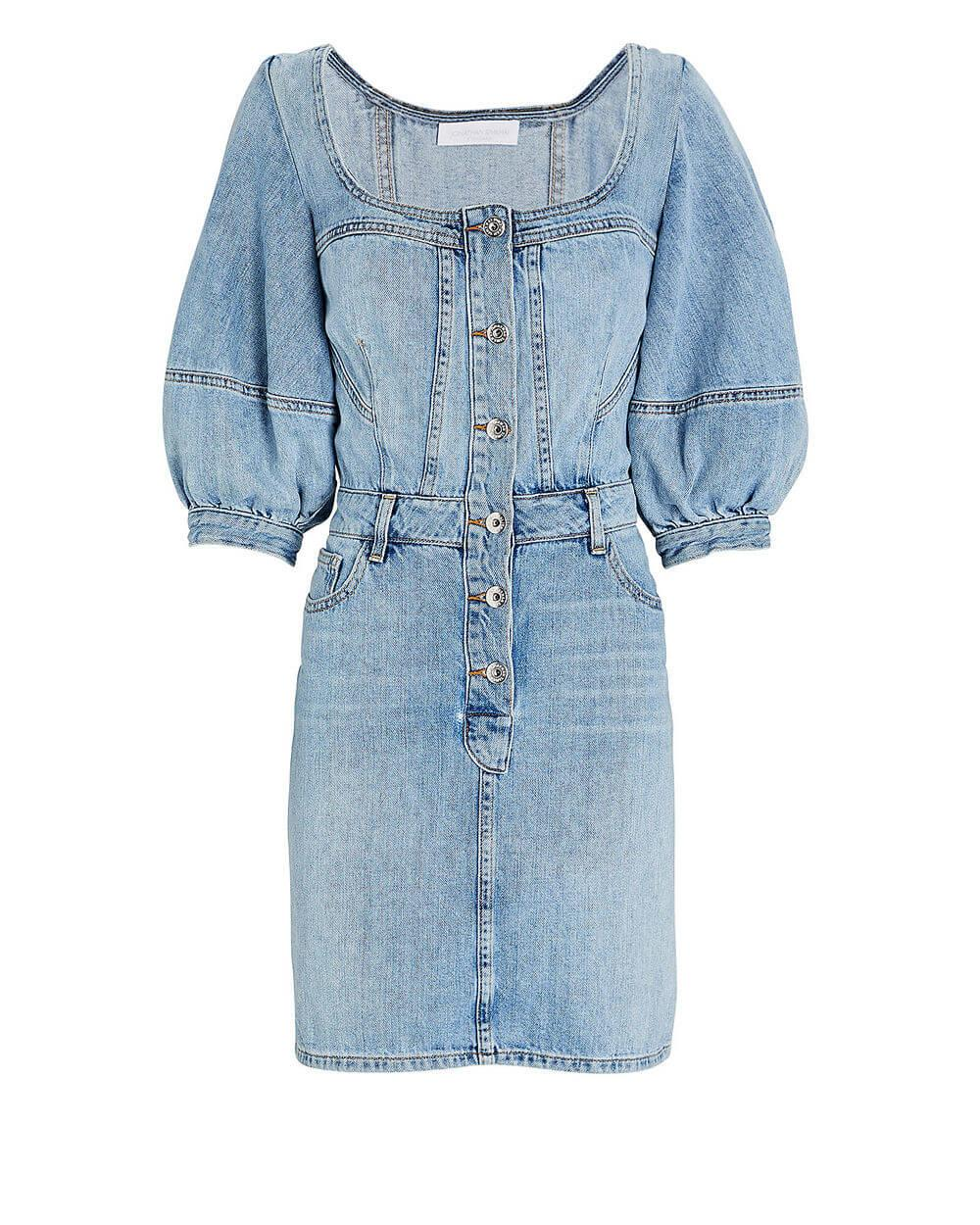 Poppy Puff Sleeve Denim Dress Item # 420-1015-ST