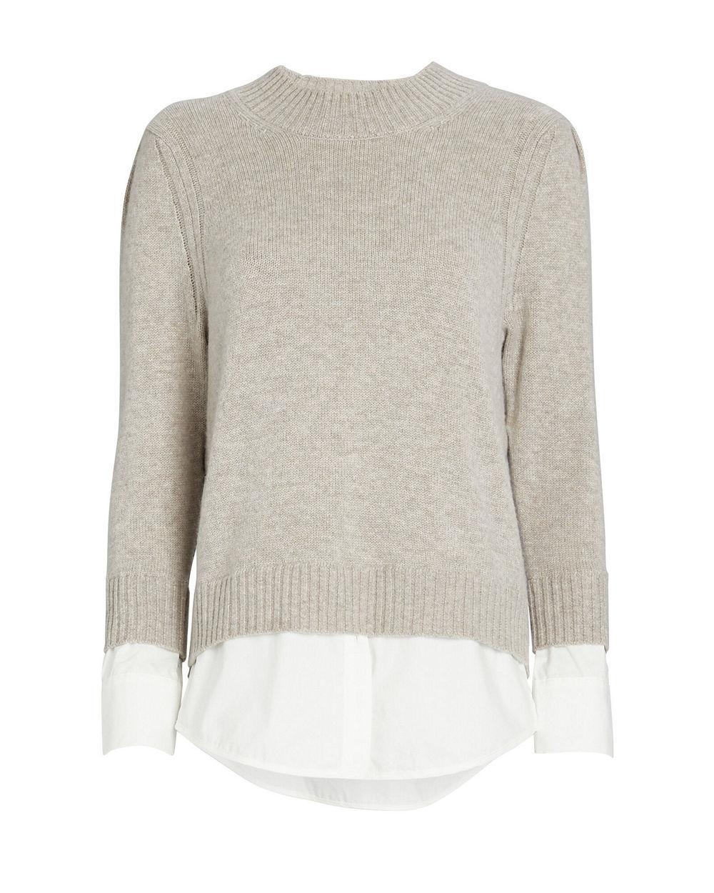 Eton Layered Crewneck Looker Sweater