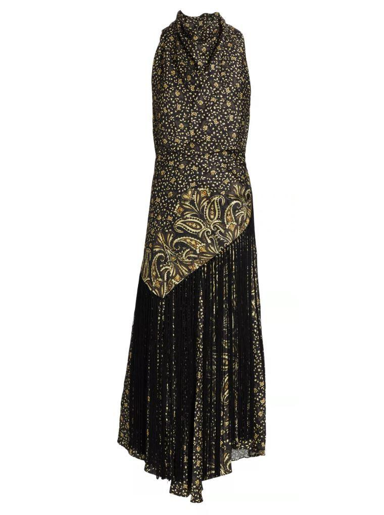 Dahlia Printed Paisley Halter Dress Item # 520-1029-T