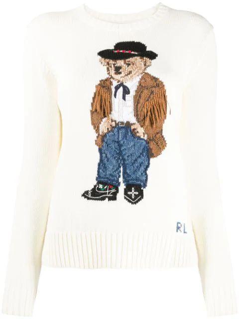 Western Bear Long Sleeve Sweater