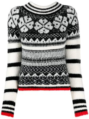 Stripe and Fairlsle Graphic Sweater