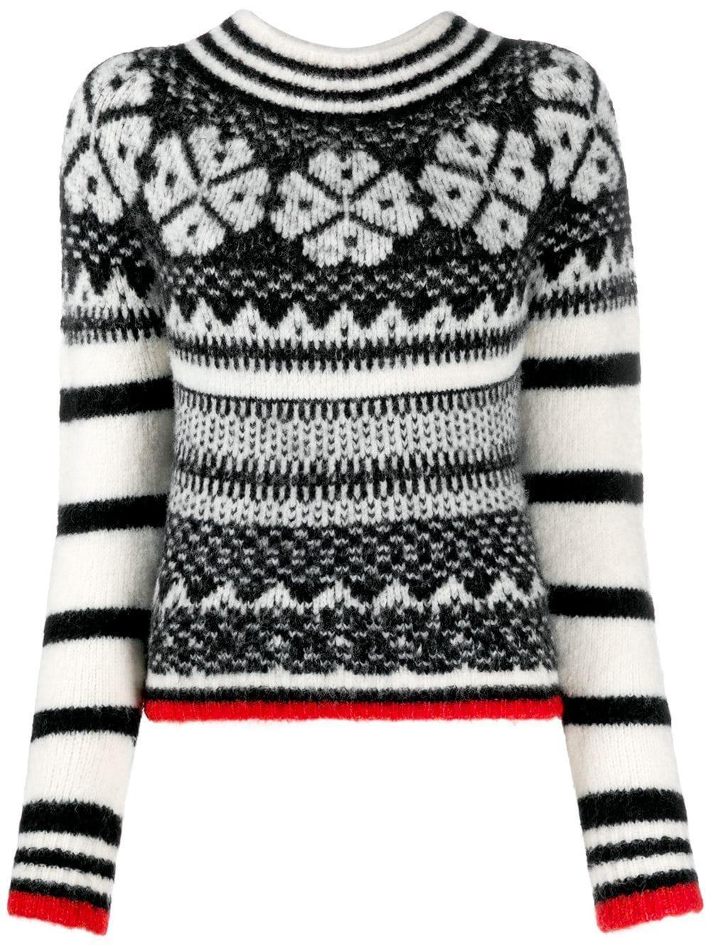Stripe and Fairlsle Graphic Sweater