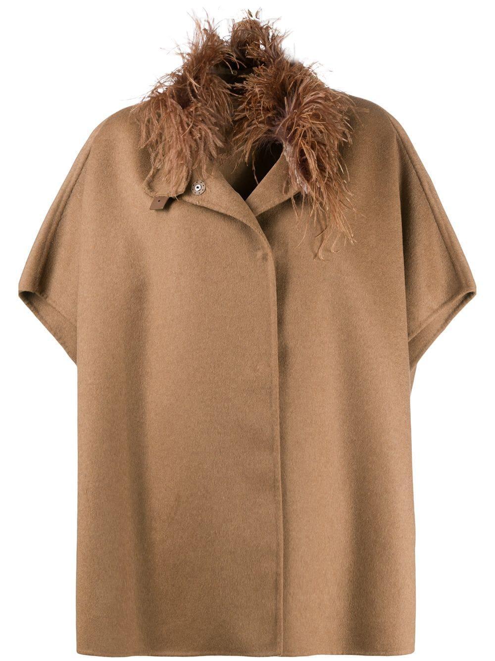Short Sleeve Turtleneck Poncho