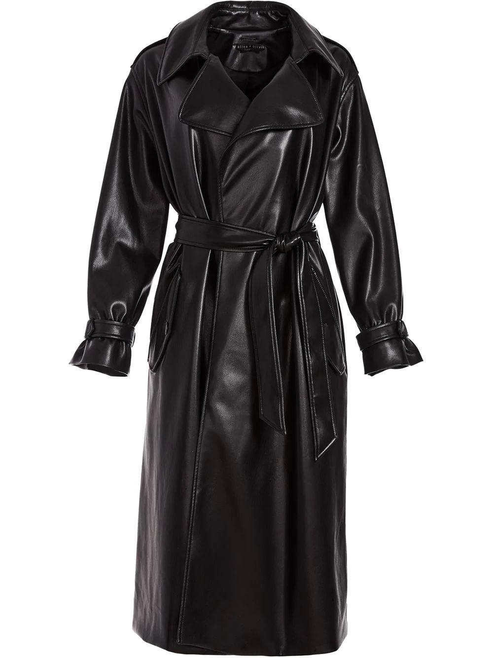 Nevada Vegan Leather Trench Item # CL000J16405