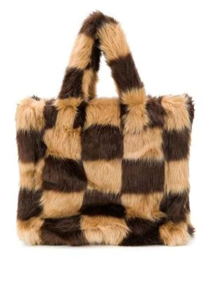 Lolita Faux Fur Check Bag