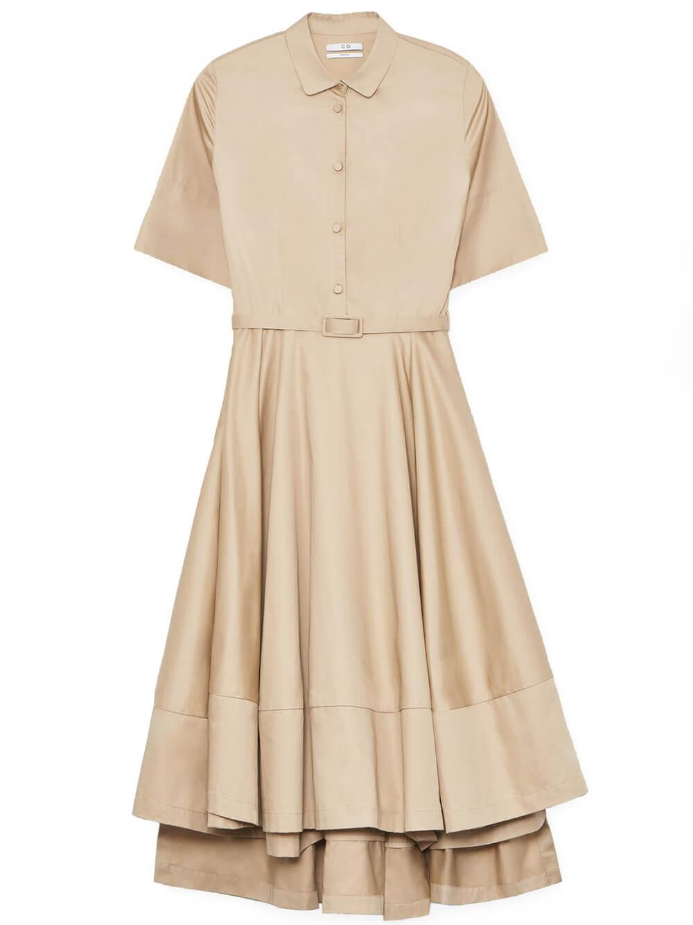 Short Sleeved Flared Dress Item # 4448STN-ESSN