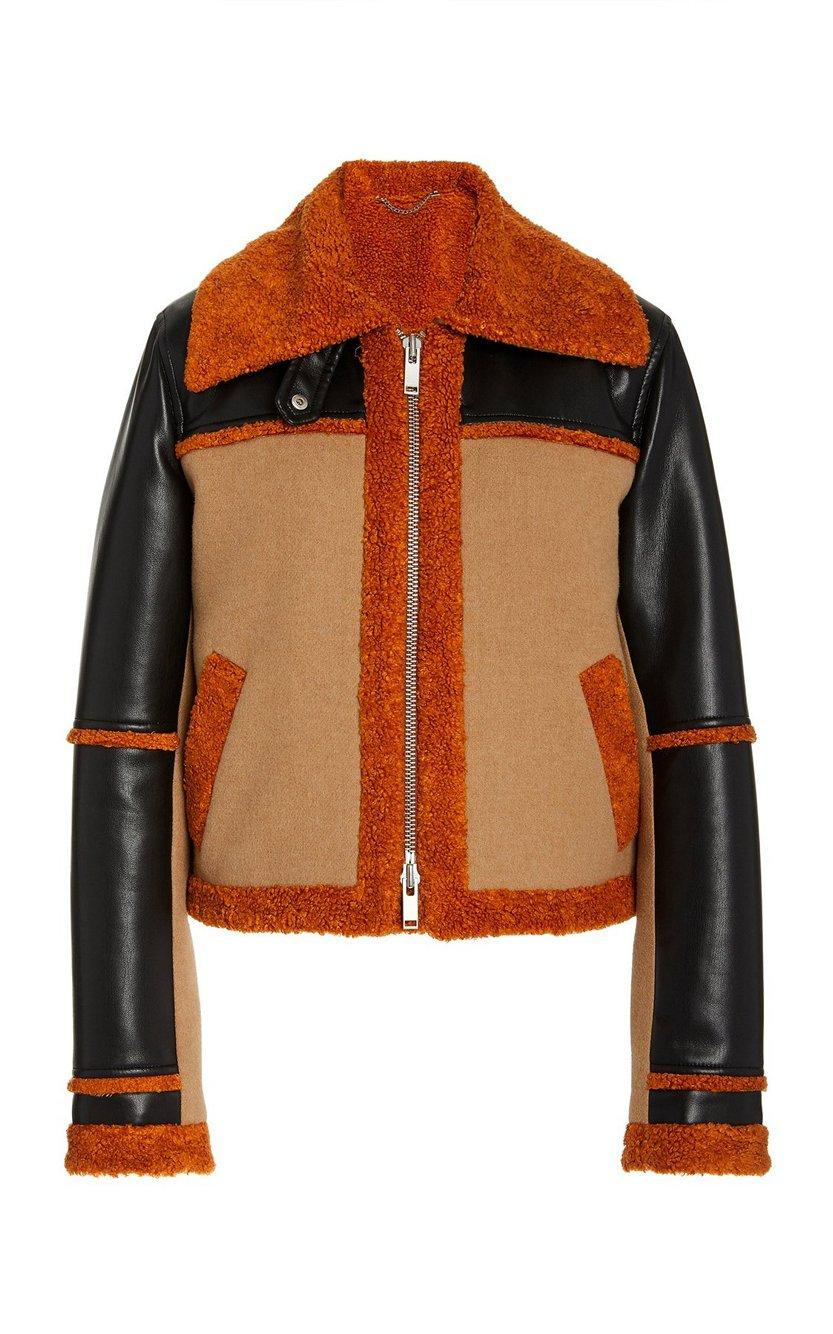 Adelynn Colorblock Sherpa Coat