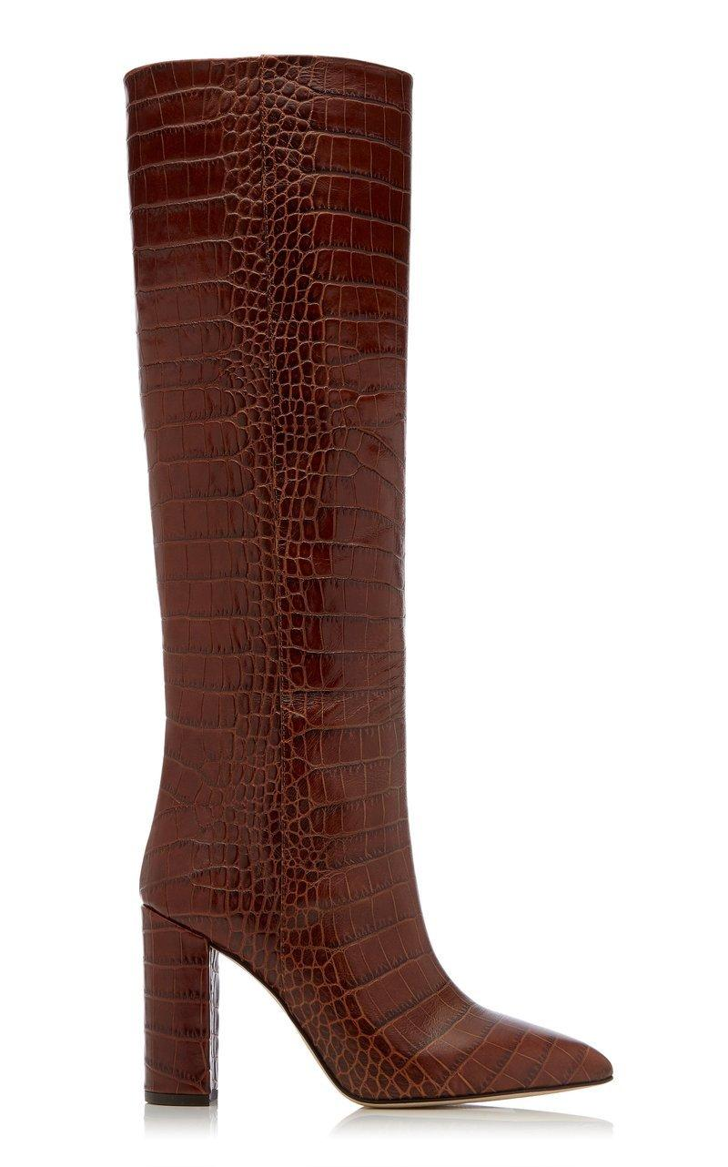 Croc- Embossed Tall Boot Item # PX120-XCAG2