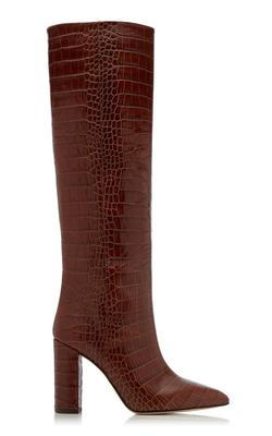 Croc-Embossed Tall Boot