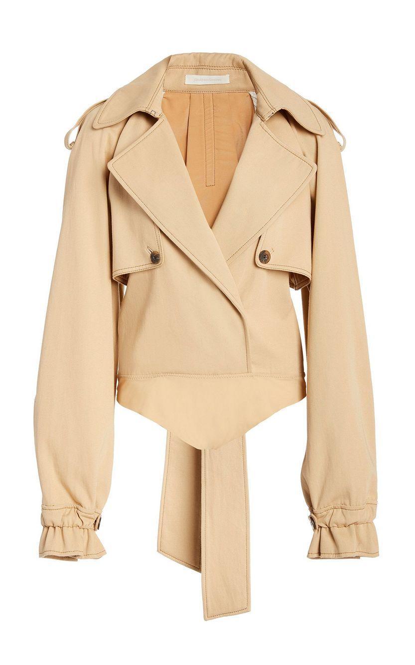 Fiona Cotton Tailoring Trench Bodysuit Item # 520-8007-B