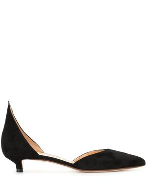 25mm Suede Dorsay Point Back Pump