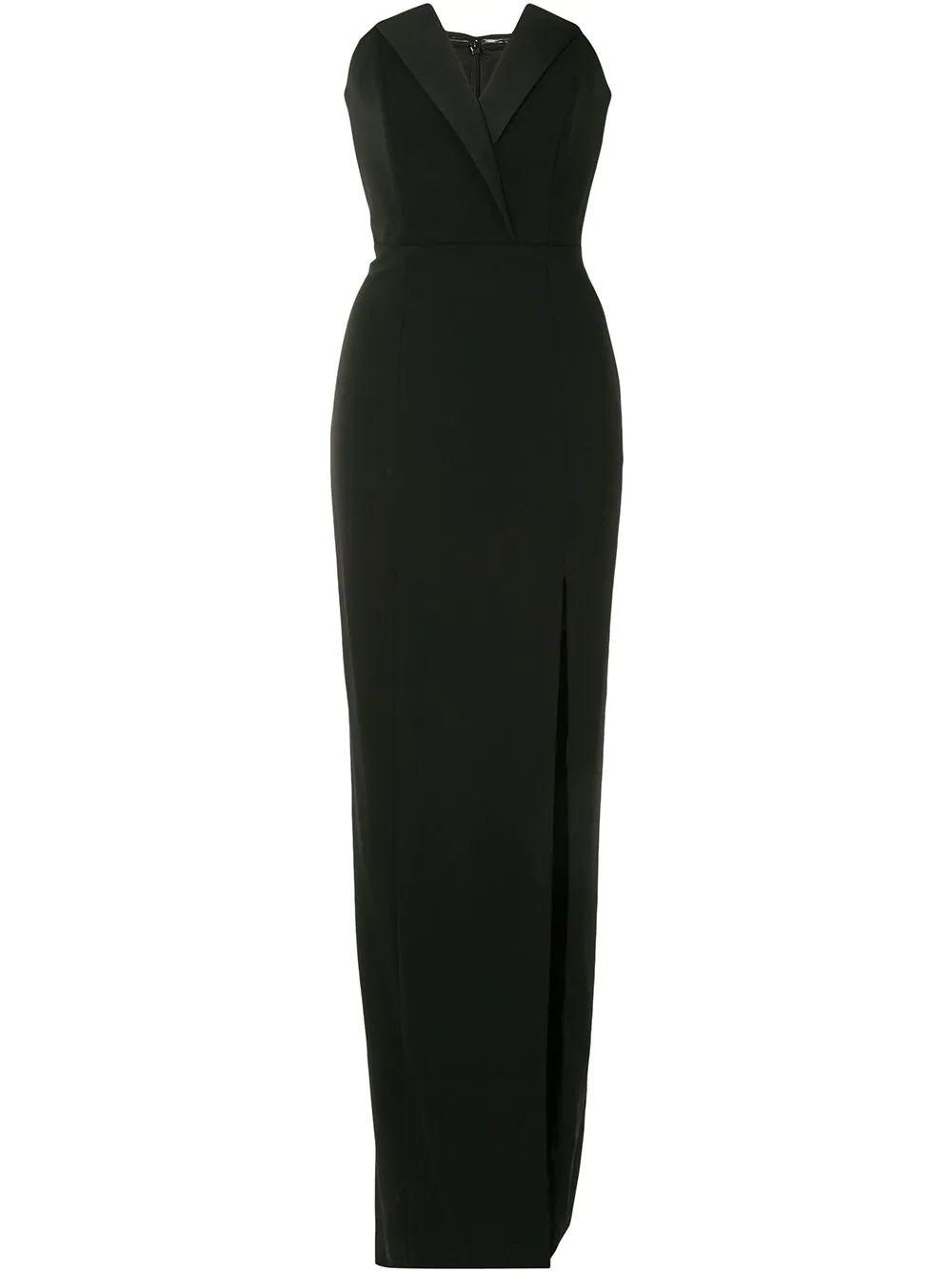 Sylvia Stretch Crepe Strapless Gown