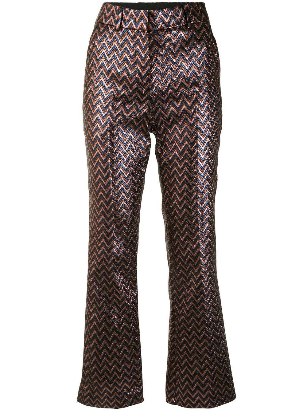Metallic Zig Zag Pants Item # 2DI00186-2W004P