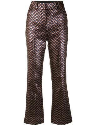 Metallic Zig Zag Pants