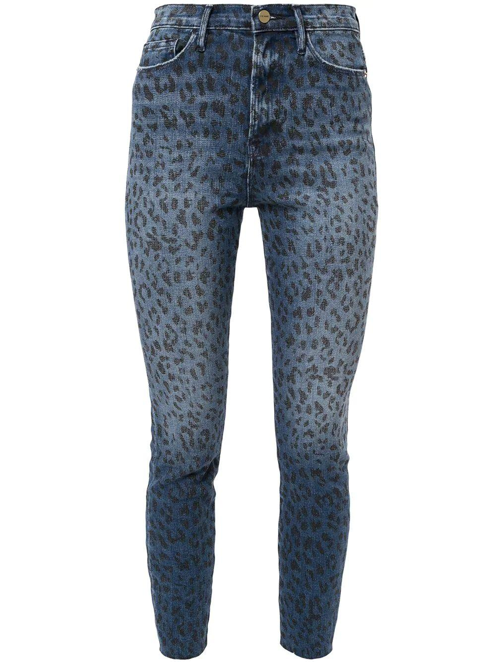 Ali High Rise Animal Print Skinny