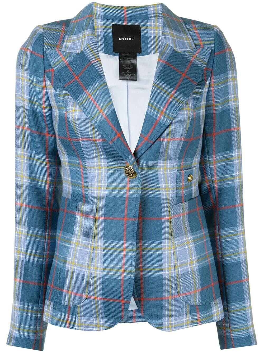 Patch Pocket Plaid Duchess Blazer