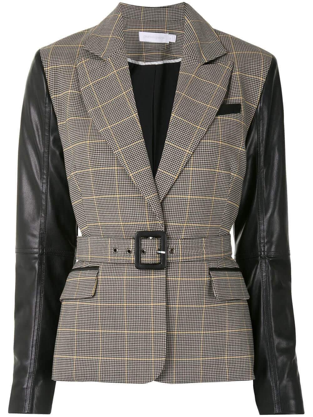 Zuri Mixed Wool Tailoring Combo Blazer Item # 520-6014-W