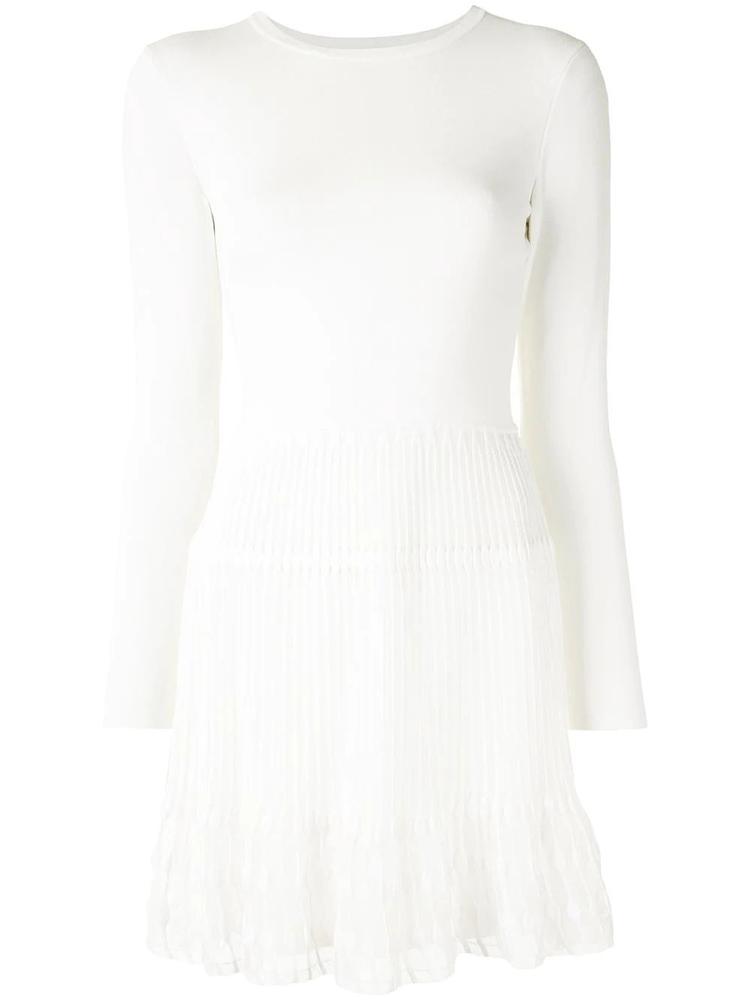 Long Sleeve Pleated Skirt Dress