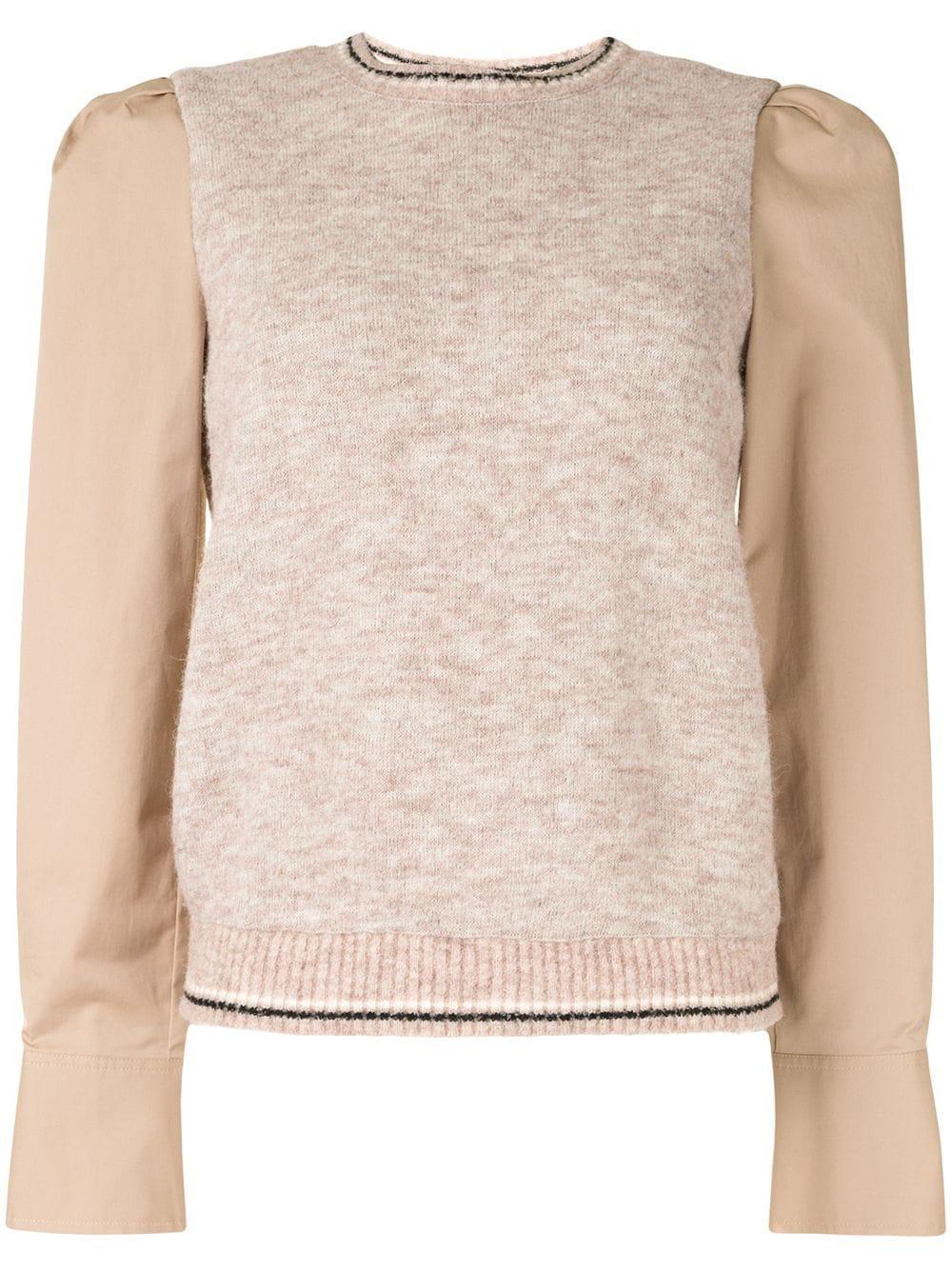 Milton Mixed Media Sweater Item # TF01733CP