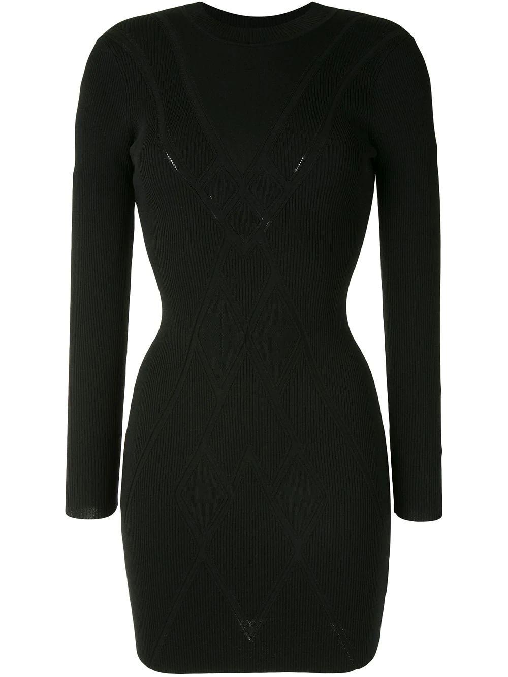 Mock Fitted Knit Dress