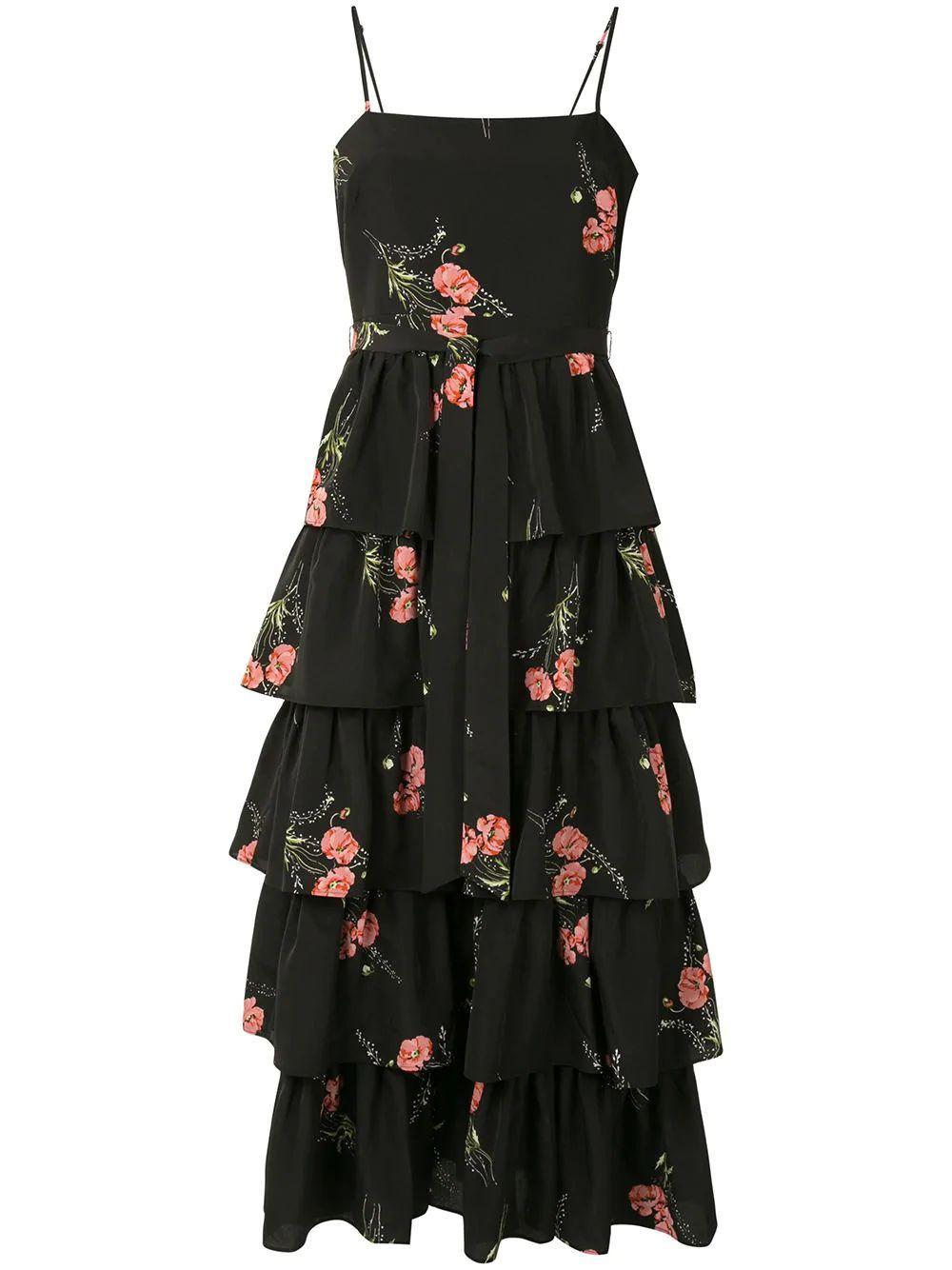 Sharon Tiered Ruffle Midi Dress
