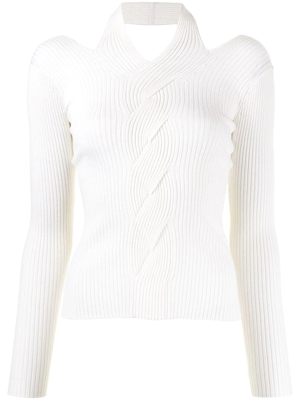 Leah Ribbed Cable Pullover