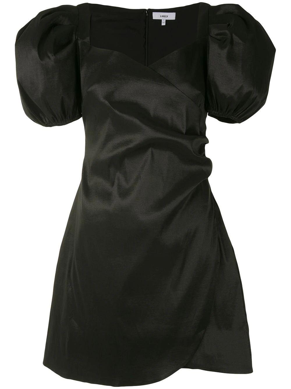 Pia Puff Sleeve Mini Dress Item # YD13013225Y